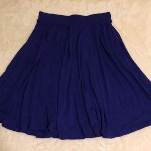 Lularoe XS Madison slinky skirt solid blue